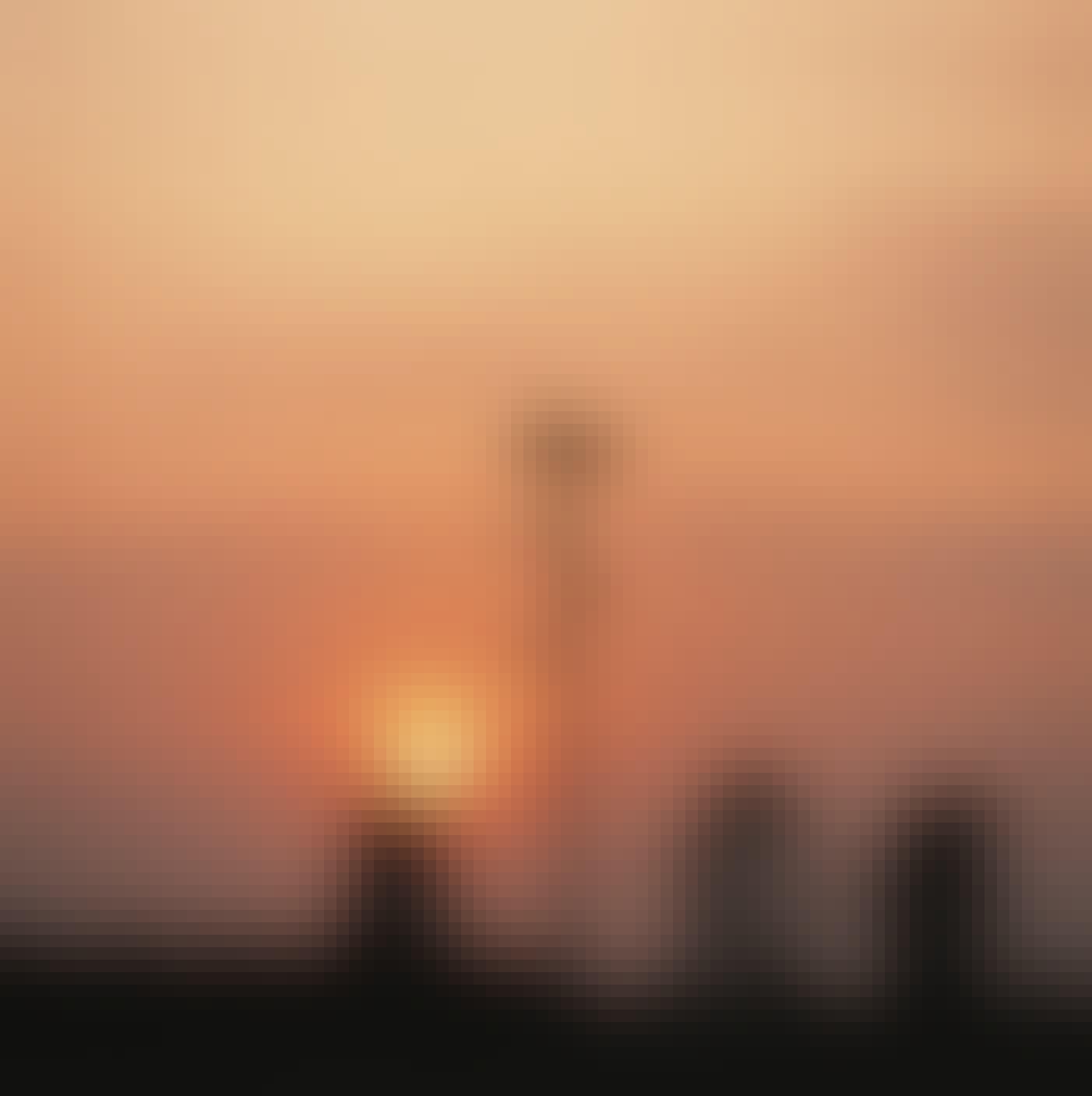 Storchennest Sonnenuntergang